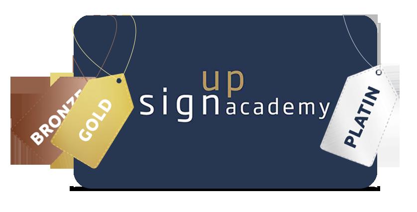 Signup Academy produkter